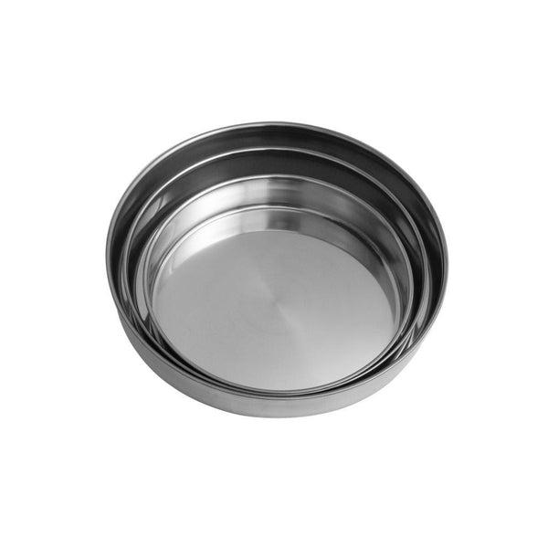 3 Pcs Stainless Steel Round Baking Tray 28*5.2cm, 32*5.4cm*, 36*5.6cm