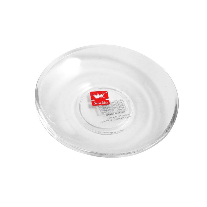 6 Pcs Glass Saucer Set