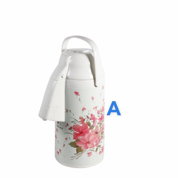 Vacum Insulated Thermos Flask Cream Flowers 3.0L