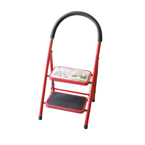 2 Tier Folding Ladder Stool Portable Non-slip Home Kitchen Step Stool