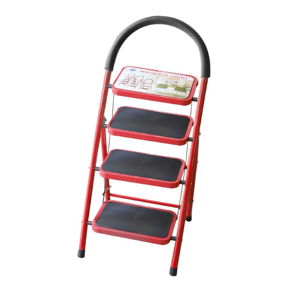 4 Tier Folding Ladder Stool Portable Non-slip Home Kitchen Step Stool 146 cm breadth 46 cm