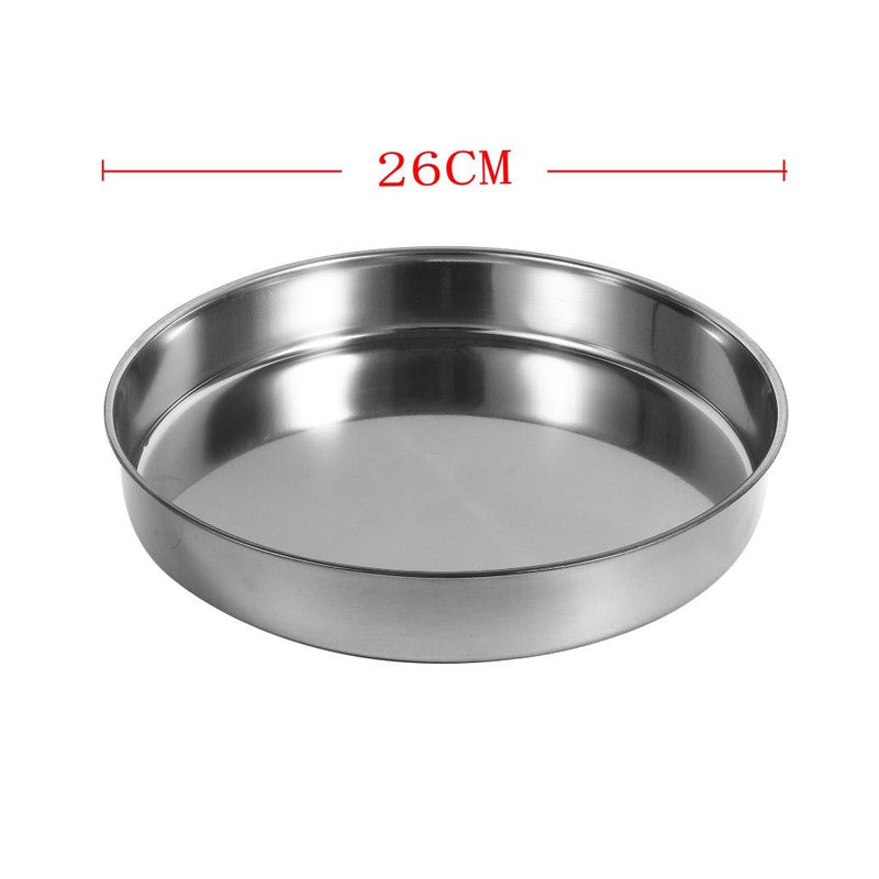 Stainless Steel Round Baking Tray 26 cm
