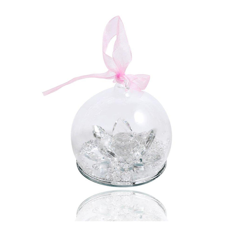 Crystal Decor Globe and Flowers 7 cm