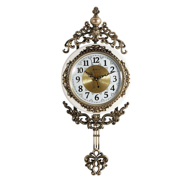 Wall Clock Antique Analog with Pendulum 35*71cm