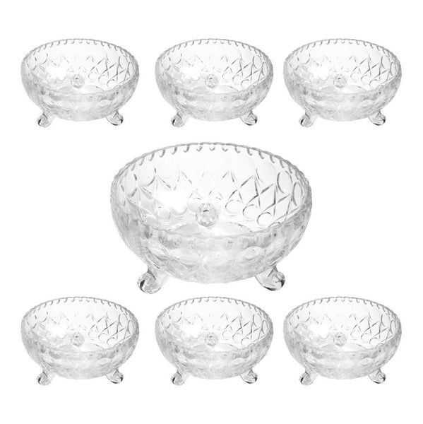 7 Pcs Set 6 Dessert and 1 Serving Bowl Set
