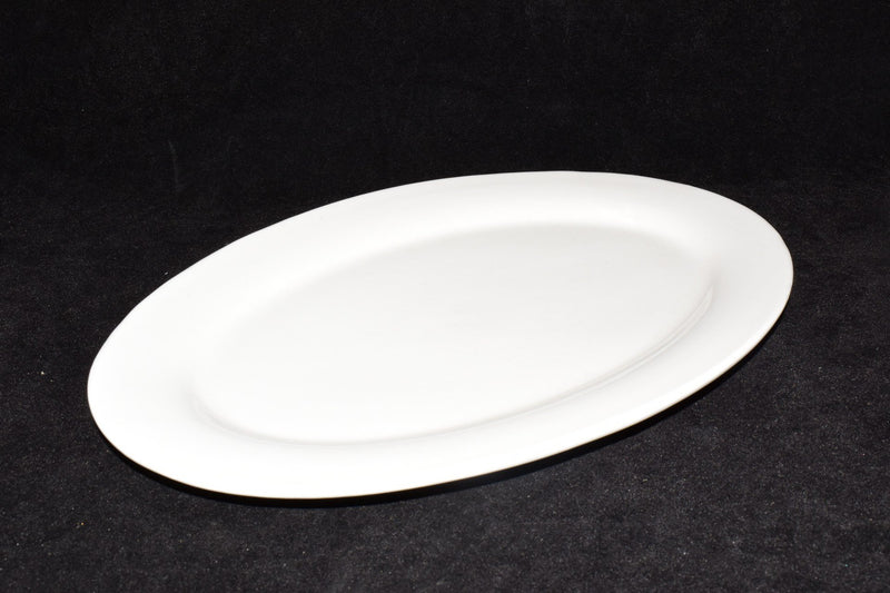 White Ceramic Oval Plater 31 cm