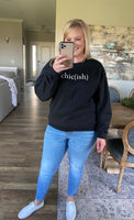 Black Chic(ish) Crewneck