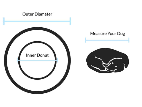 Cozzy Donut Dog Bed Size Measurement