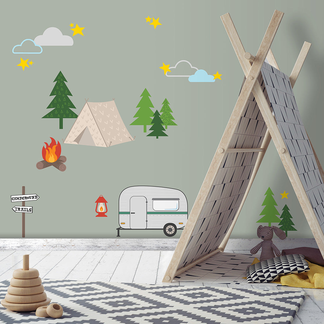 Happy Camper Wall Decals for the Perfect Atmosphere