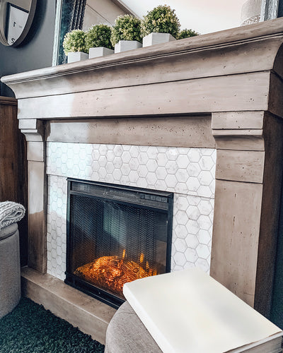 Create an Electric Fireplace Makeover