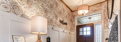 Brighten an Entryway with Peel and Stick Wallpaper