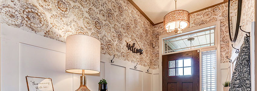 lift and brighten an entryway with peel and stick