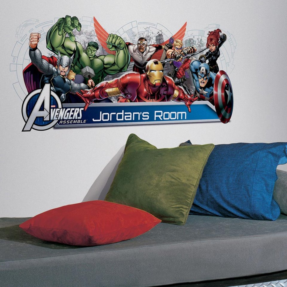 Avengers Peel And Stick Headboard