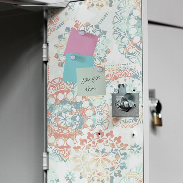 DIY Your Locker With Peel And Stick Wallpaper