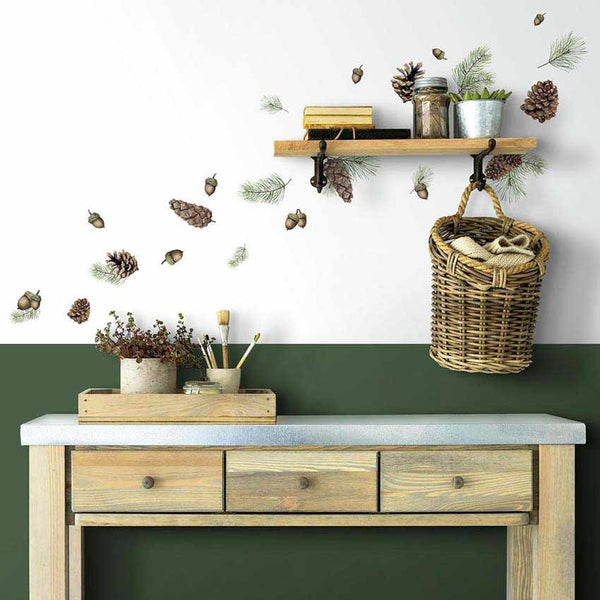 Acorn And Pinecone Wall Decals