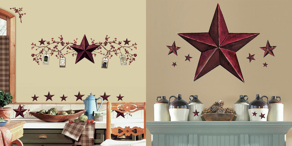 Country Stars Wall Decals