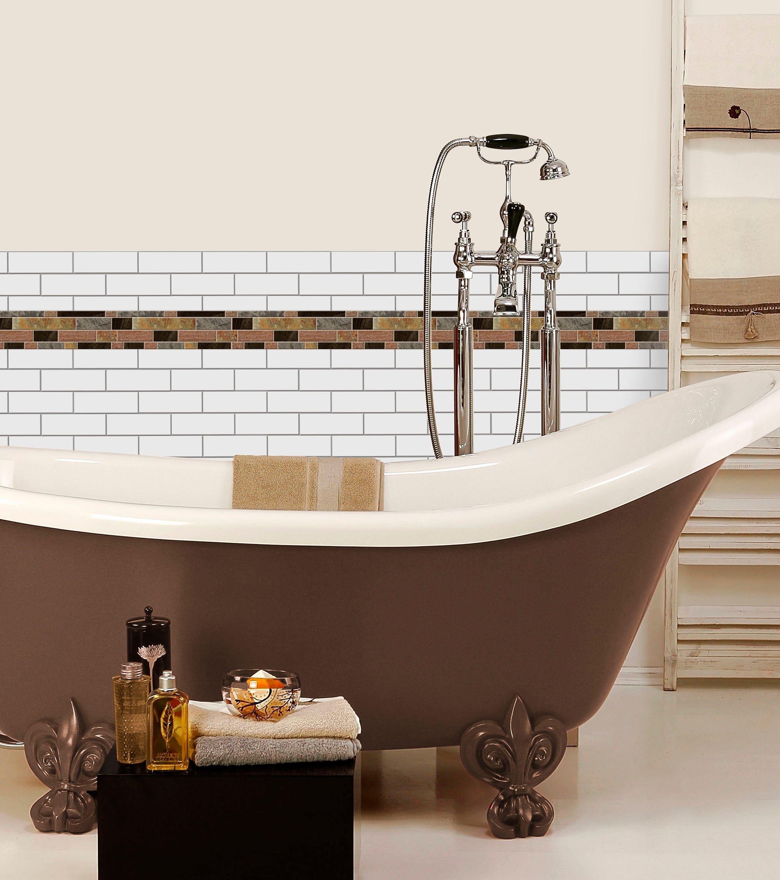 Create A Fresh New Look In A Bathroom With Sticktiles