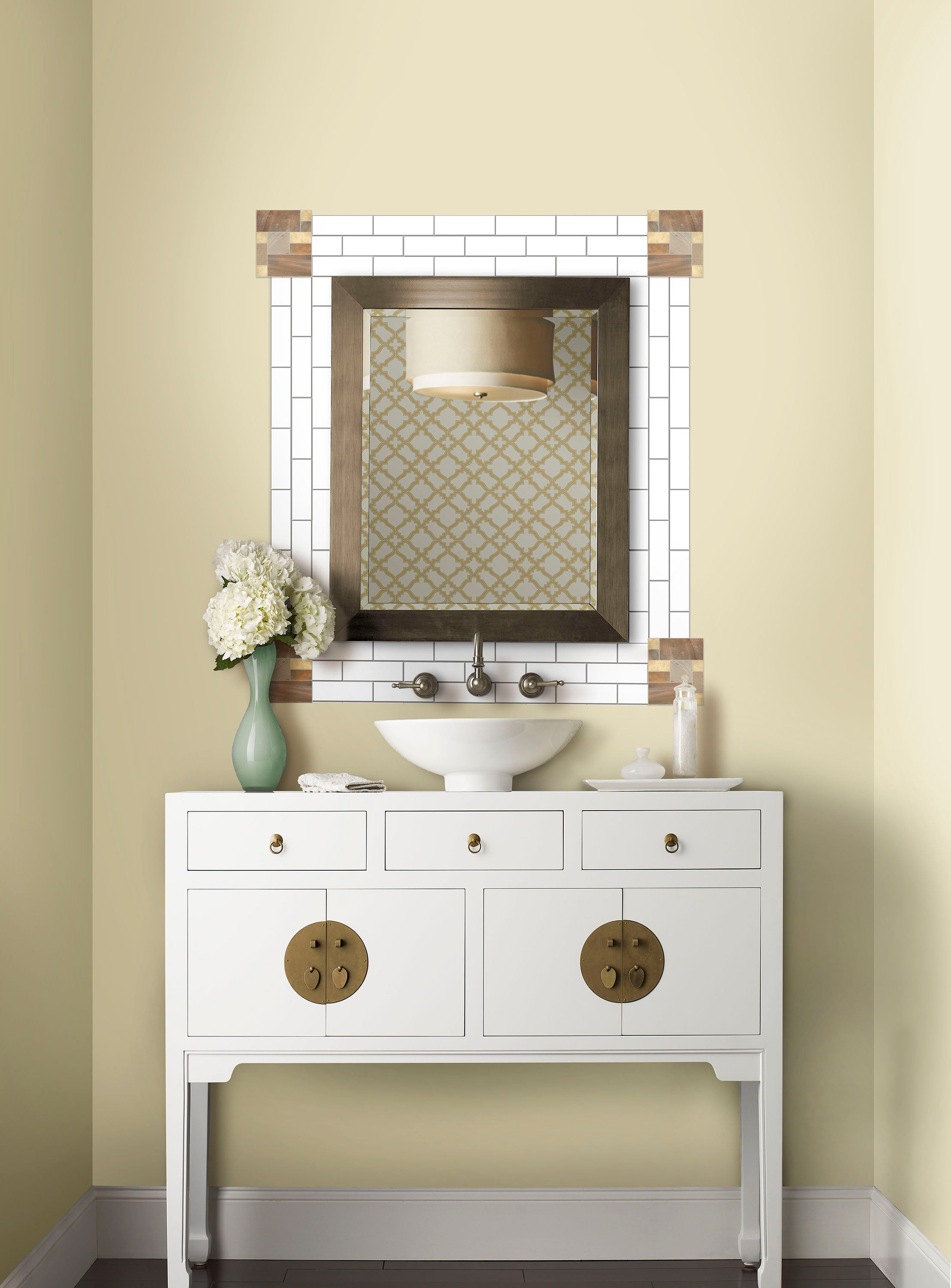 Create A Statement Look In A Bathroom With Sticktiles
