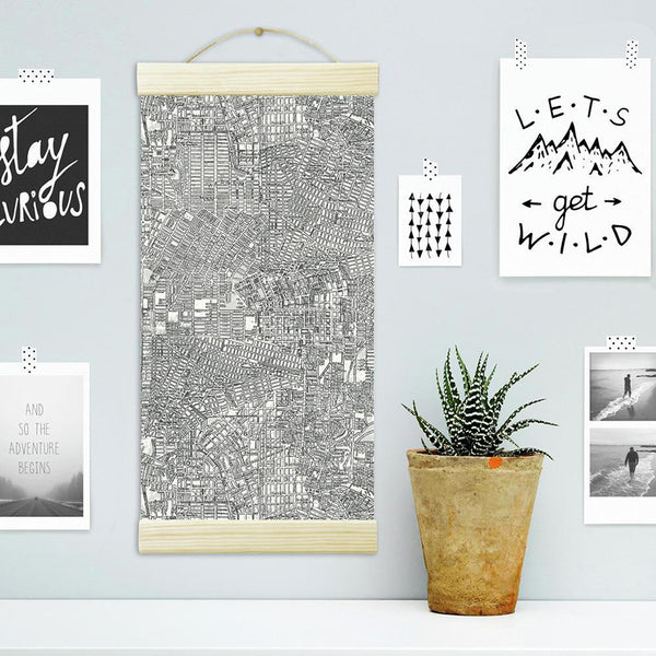 Create DIY Artwork With Peel And Stick Wallpaper