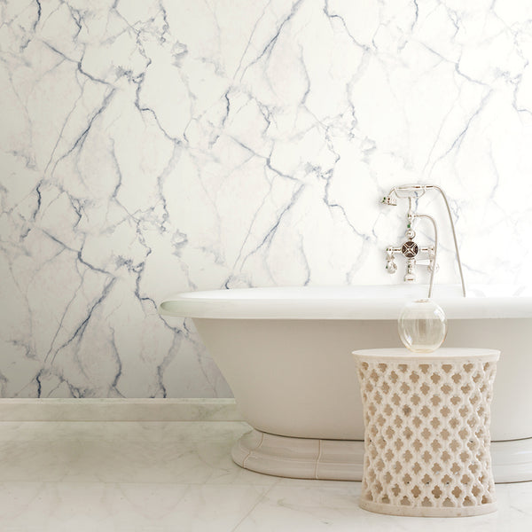 Use Peel And Stick Wallpaper In A Bathroom