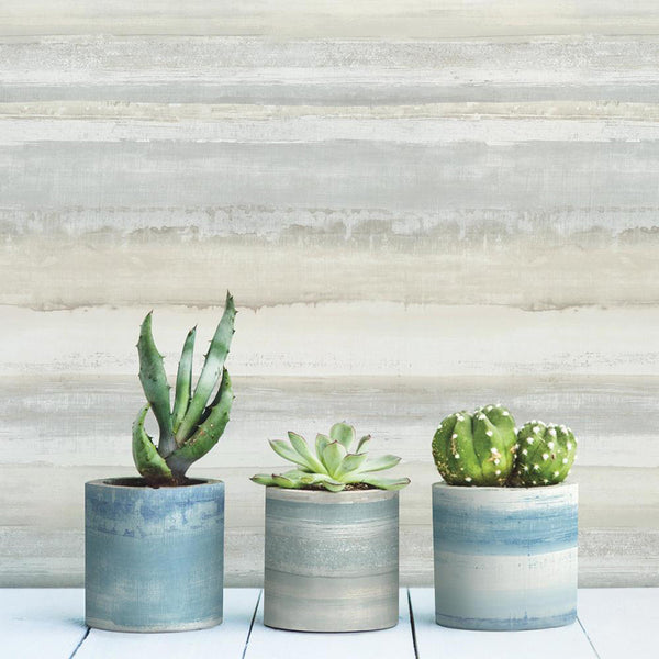 DIY Flower Pots With Peel And Stick Wallpaper