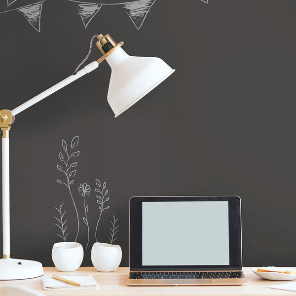 Decorate With Blackboard Peel And Stick Wallpaper