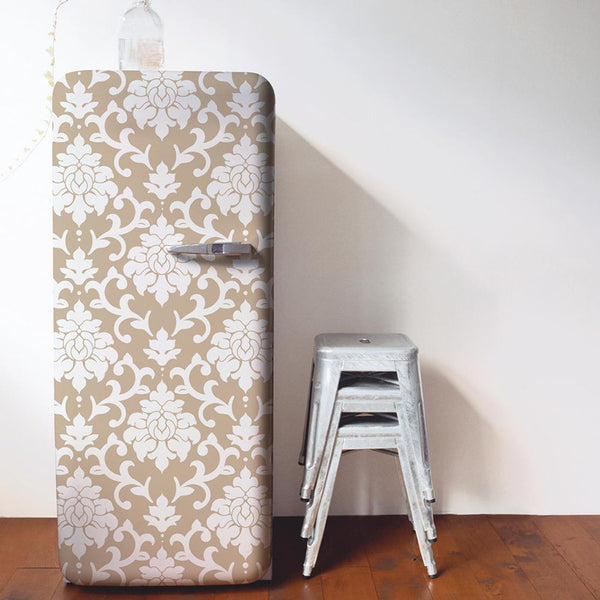 Decorate A Refrigerator With Peel And Stick Wallpaper