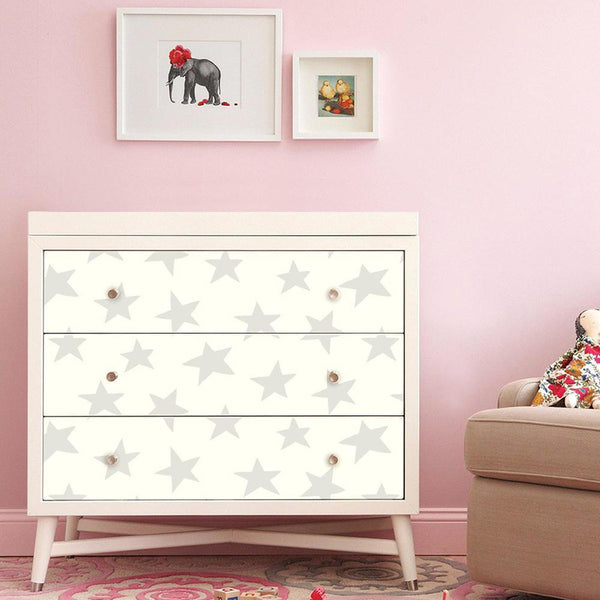 Decorate A Dresser With Peel And Stick Wallpaper