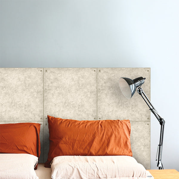 Create A DIY Headboard With Peel And Stick Wallpaper