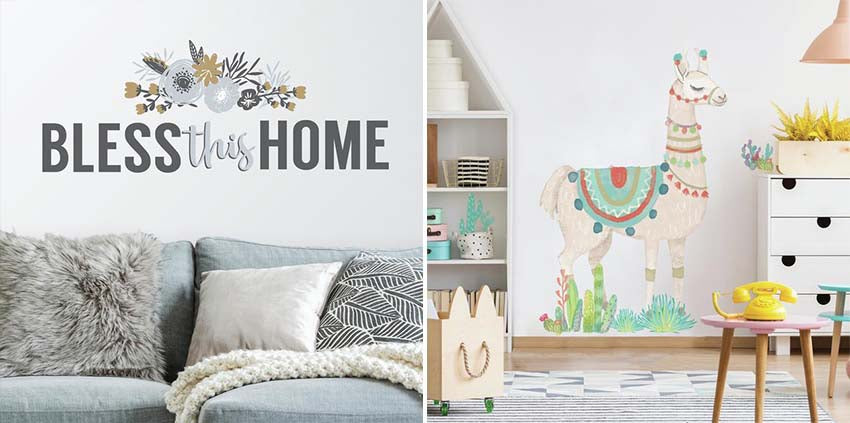 Makeover Your Walls With Peel And Stick Decals