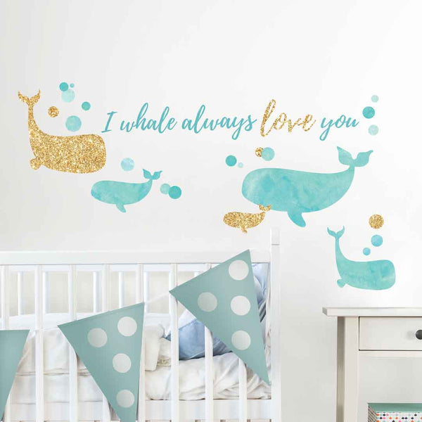 I Whale Always Love You Wall Decals