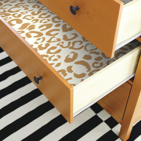 Line Your Drawers With Peel And Stick Wallpaper
