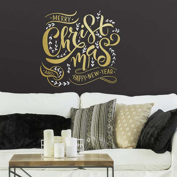 Merry Christmas Quote Wall Decals