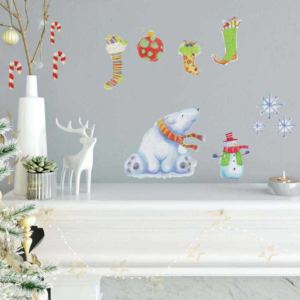 Polar Christmas Wall Decal