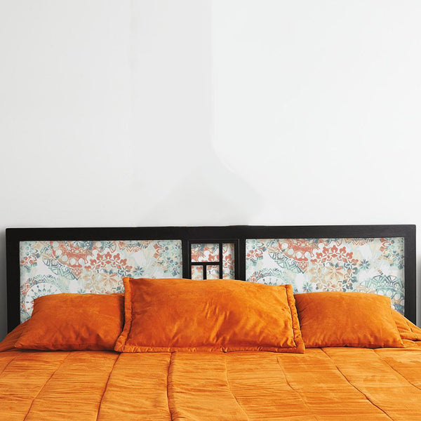 Decorate A Headboard With Peel And Stick Wallpaper