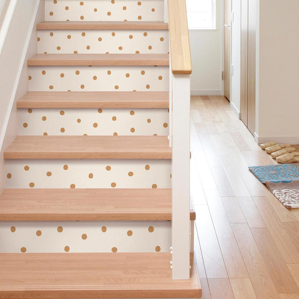 Decorate Steps With Peel And Stick Wallpaper