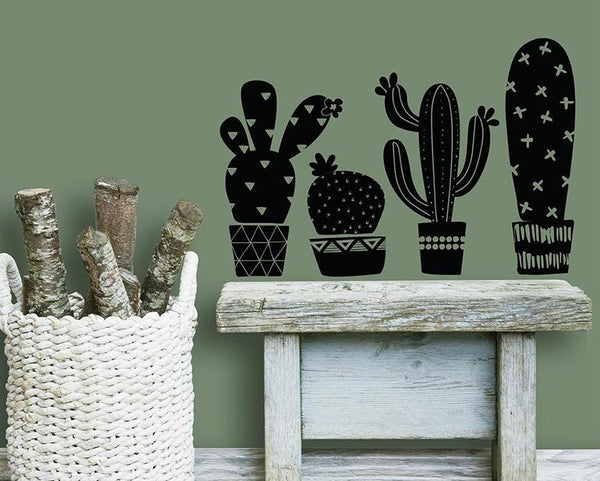 Add Geometric Cacti Decor