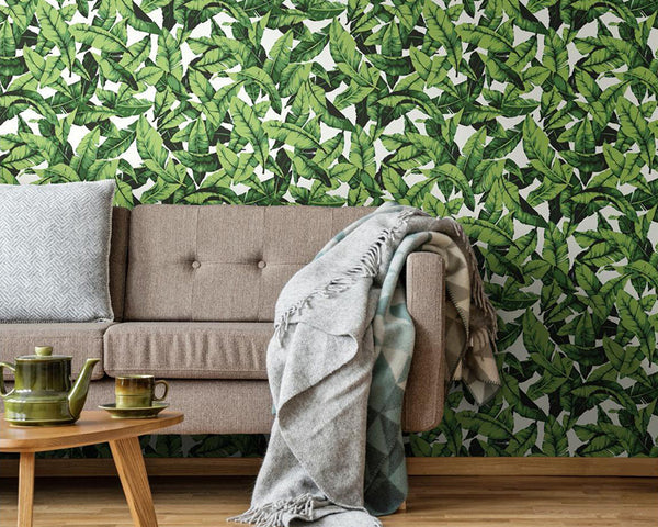 Add Tropical Decor With peel And Stick Wallpaper