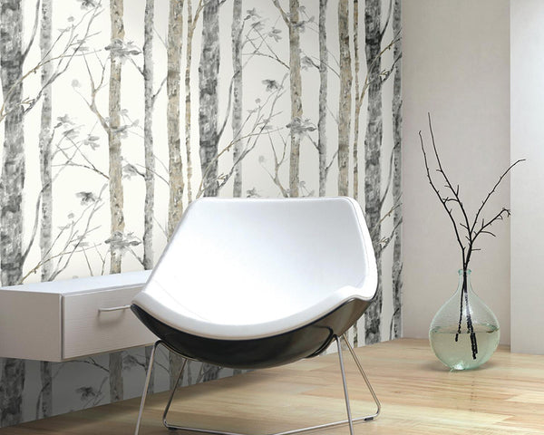 Create A Wooded Wall With Peel And Stick Wallpaper