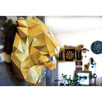 Lion Paper Animal Head Trophy roomset