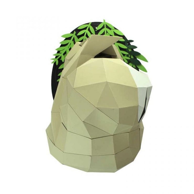 Sloth and Branch Paper Animal Head Trophy front