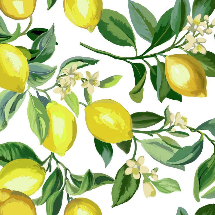 Lemon Zest Peel and Stick Wallpaper white