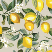 Lemon Zest Peel and Stick Wallpaper gray