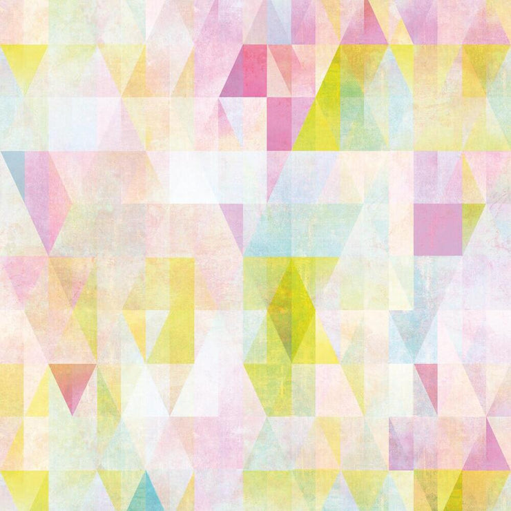 Prismatic Geo Peel and Stick Wallpaper multicolored