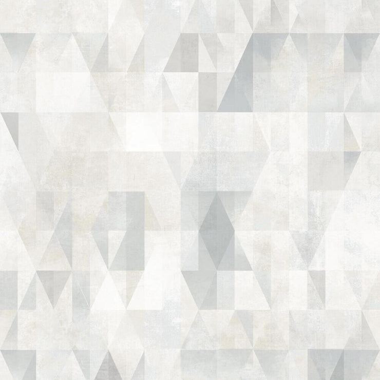 Prismatic Geo Peel and Stick Wallpaper gray