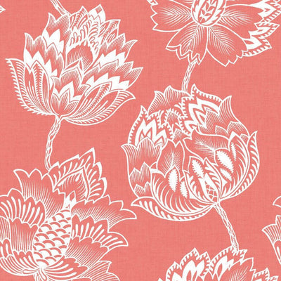Batik Jacobean Peel and Stick Wallpaper pink