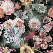 Vintage Floral Blooms Peel and Stick Wallpaper pink