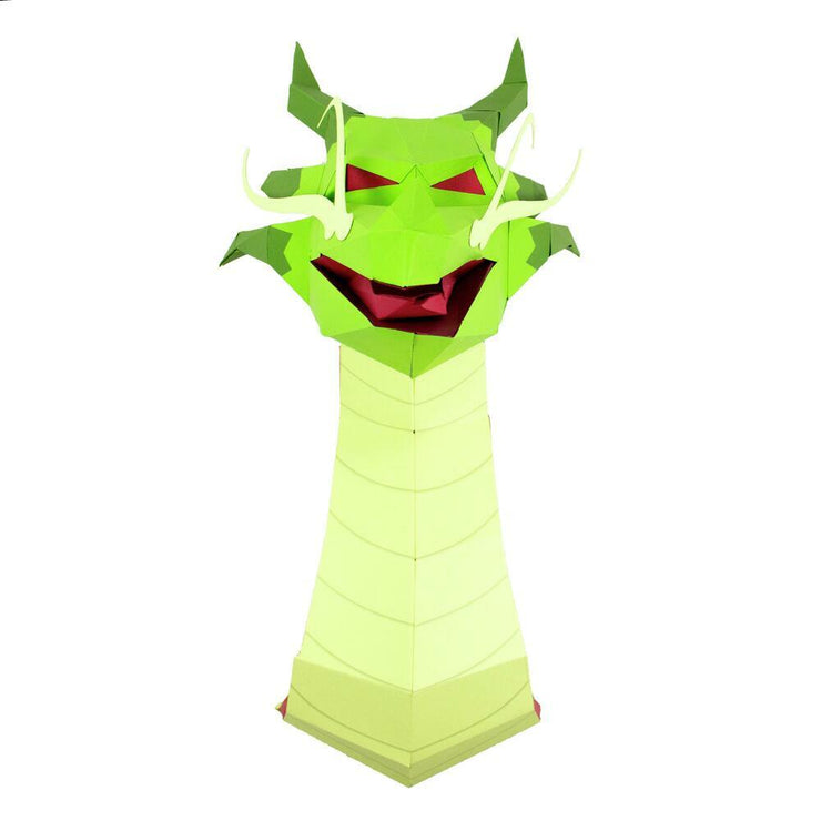 Dragon Paper Animal Head Trophy front