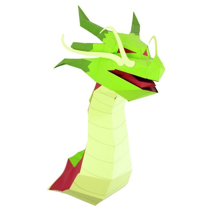 Dragon Paper Animal Head Trophy side