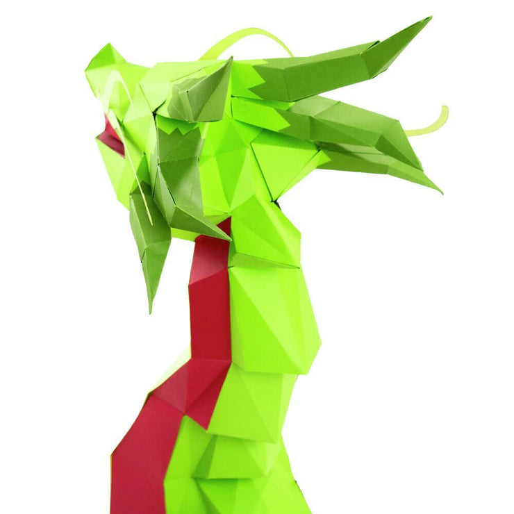 Dragon Paper Animal Head Trophy back